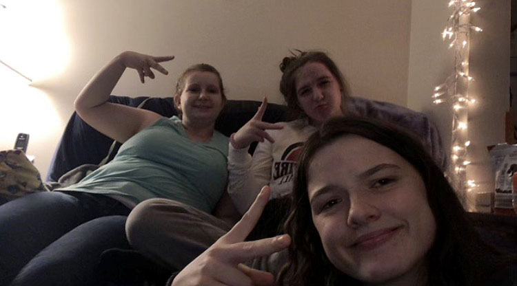 Best friends juniors Breyana Cox, Julia Couch and Aspen Deke enjoy time together just having fun. Aspen lost her battle with COVID-19 on Jan. 30, 2021.