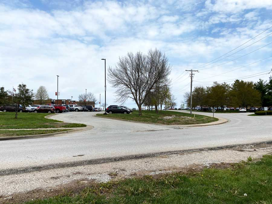 Voters approved the bond and levy questions on April 6. One of the planned improvements will be fixing the traffic congestion and parking on the main campus.