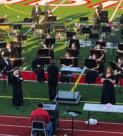 """HONORING HEROES. Spotlighting their heroes, members of the band share their stories about the heroes in their lives. The """"Heroes"""" concert was performed in the stadium on May 10."""
