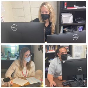 RETURNING HOME. Ms. Paige Maske (top), Ms. Samantha Messer (Bottom Left) and Mr. Simo Atagi (Bottom Right) all came back to work at FOHS after brief work stints in other schools or positions. Ms. Maske now teachers Credit Recovery, Ms. Messer teaches Health and Mr. Atagi teachers Social Studies and Real World Career Exploration.